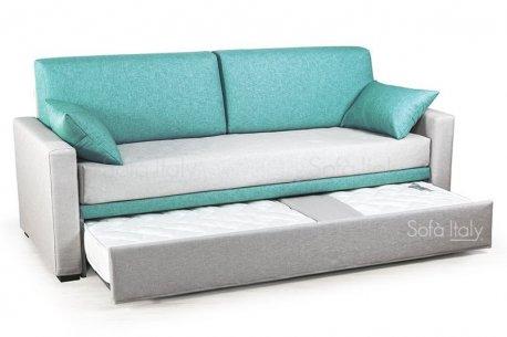 esempio di rivestimento doppio colore del frontalino piccolo e cuscini