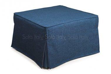Pouf letto di qualità, sfoderabile, a scelta tipo di materasso - rivestimento e colore Mod. 46BCL